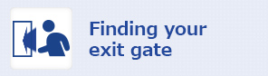 Finding your exit gate