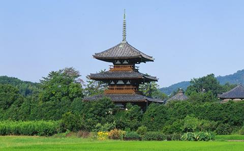 法起寺 | スポット情報 | 信貴・生駒・郡山・斑鳩エリア|観光 ...